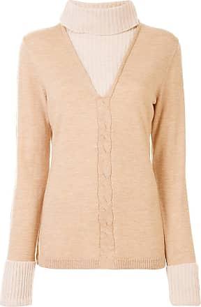 Onefifteen layered knit jumper - Brown