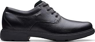 Clarks Un Tread Lo Gore-Tex Leather Shoes in Black Standard Fit Size 10.5
