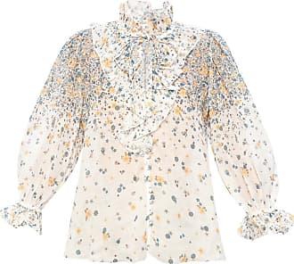 Zimmermann Ruffled Shirt Womens White