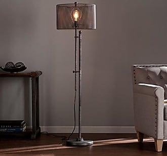 Southern Enterprises Zimbler Floor Lamp - Modern Floor Lamp w/ Adjustable Height - All Metal Mesh Shade