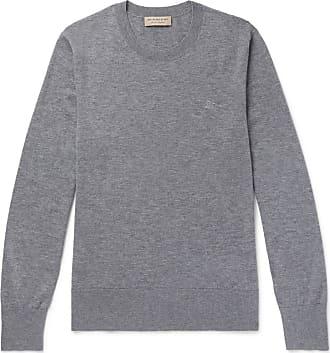 Burberry Mélange Cashmere Sweater - Gray