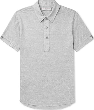 Orlebar Brown Sebastian Slim-fit Striped Linen-jersey Polo Shirt - Gray