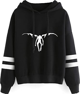 Haililais Death Note Pullover Pullover Sweatshirt Fashion Sweater Outerwear Adult Casual Sports Warm Wild Long Sleeve Men and Women Unisex (Color : Black03, Siz