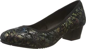 Jana Womens 8-8-22308-23 Closed-Toe Pumps, Black (Black/Flower 005), 4 UK