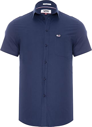 Tommy Jeans CAMISA MASCULINA SOLID POPLIN - AZUL
