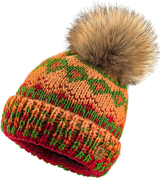 morefaz Women Men Indians Style Winter Beanie Hat Knitted Fleece Lining Pom Pom Ski Hats (Design 8)