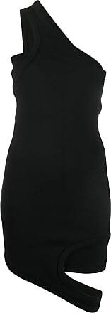 Zilver one shoulder reversed dress - Black
