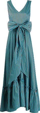 P.A.R.O.S.H. striped bow dress - Blue