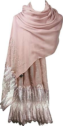 GFM Designer Glamour Layered Feathers Lace Scarf (18006-FTHR-LACE-DGLB)(Size: L)
