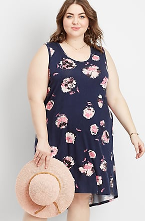c802caa420ed0 Maurices Plus Size - 24 7 Floral Scoop Neck Tank Dress