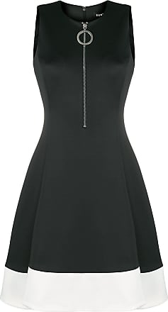 DKNY front zip midi dress - Black