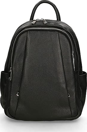 Chicca Borse Backpack Bag in genuine leather made in Italy - 35x26x13 Cm