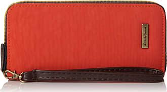 Swankyswans Womens Riley Nylon Zip Around Wallet Orange