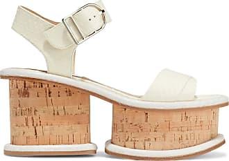 Gabriela Hearst Gabriela Hearst Woman Harrigan Snake-effect Leather Platform Sandals Ivory Size 39.5