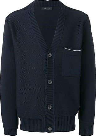 Falke V-neck button cardigan - Blue