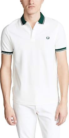 Fred Perry Mens Contrast Rib Polo Shirt M4567 808 White L