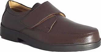 Roamers XXX Extra Wide Touch Fastening Casual Leather Quarter Lining & Sock Mens UK 11 Brown