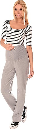 Purpless Maternity Wide Leg Yoga Lounge Gym Pregnancy Trousers Over Bump Belly Support for Pregnant Women 1300 (10 Regular, Light Gray)