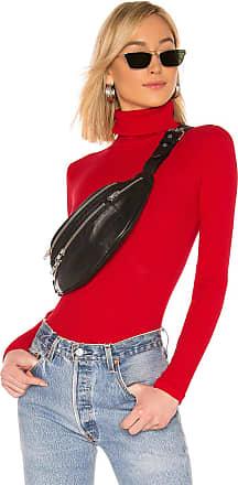 Re/Done Rib Turtleneck Bodysuit in Red