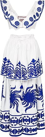 Yuliya Magdych Queen of the Sun top and skirt - White