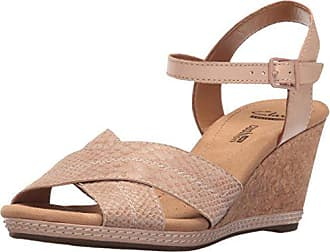 bb53eafee29 Clarks Womens Helio Latitude Wedge Sandal Nude Leather 12 M US