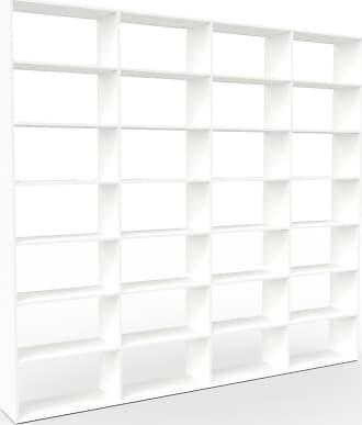 MYCS Bibliothèque - Blanc, design, étagère pour livres, sophistiquée, ouverte et fonctionelle - 301 x 272 x 35 cm, personnalisable