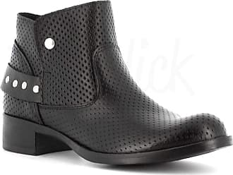 Generico Generic Made in Italy Leather Boot with Studs - Black Black Size: 8 UK