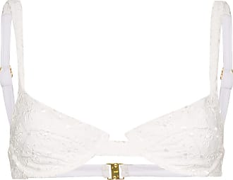 Juillet Sutiã de biquíni Izzy com bordado inglês - Branco