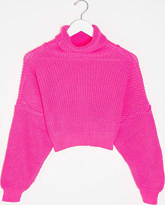 I Saw It First Pullover mit Tunnelkragen in Fuchsia-Rosa