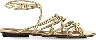 L'autre Chose Sandália metálica com salto 20mm - Dourado