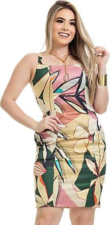 Clara Arruda Vestido Clara Arruda Tubinho Decote Quadrado Estampado 50606-36 - Capitolina