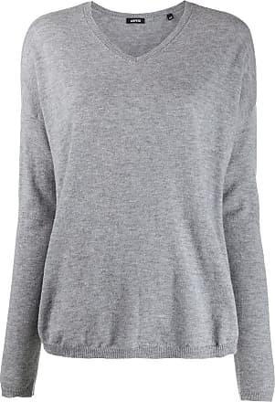 Aspesi v-neck fine-knit jumper - Cinza