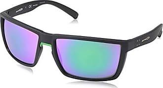 Arnette Mens Hundo-p1 Non-Polarized Iridium Square Sunglasses 63 mm GREEN