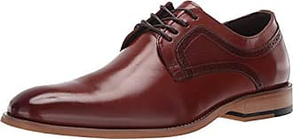 Stacy Adams Mens Dickens Plain Toe Lace-Up Oxford, Cognac, 13 W US
