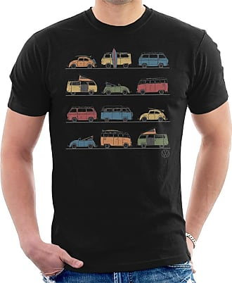 Volkswagen Vans and Beetles Mens T-Shirt Black