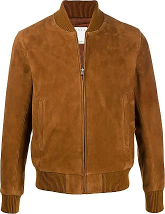 Sandro suede bomber jacket - Brown