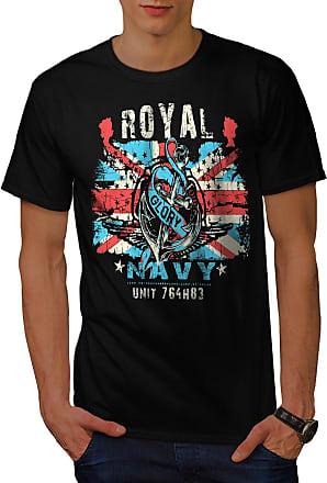 British Graphic Design Printed Tee Wellcoda Royal Navy Glory UK Mens T-shirt