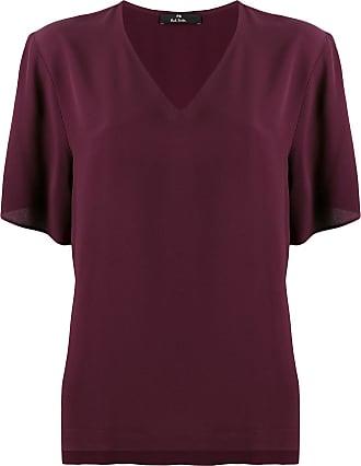 Paul Smith Camiseta com listra lateral - Vermelho