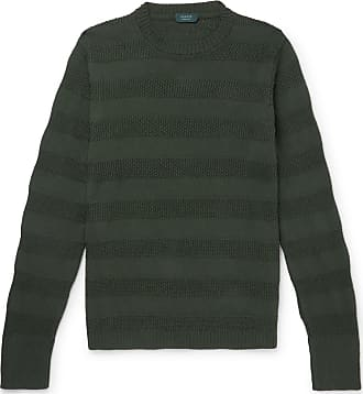 Incotex Striped Cotton Sweater - Green