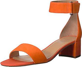Franco Sarto Womens Rosalina Heeled Sandal, Tangerine, 7.5 M US