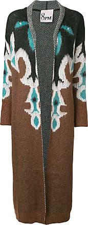 8pm long printed cardigan - Brown