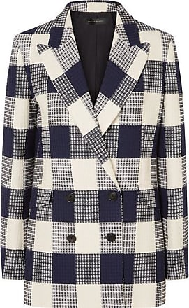 Roland Mouret Harleston Checked Cotton-blend Bouclé Blazer - Navy