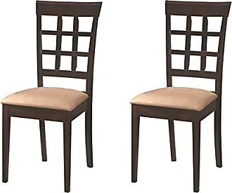 Coaster Fine Furniture Gabriel Wheat Back Side Chairs Cappuccino and Beige (Set of 2)