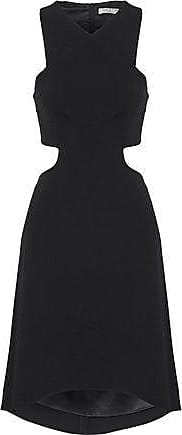 Halston Heritage Halston Heritage Woman Fluted Cutout Cady Dress Black Size 10