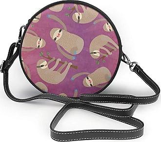 Turfed Happy Print Fashion Round PU Crossbody Handbag Round Shoulder Bag For Women Girls