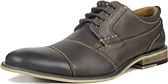 MGM-Joymod Mens Classic Stitching Lace-up Oxford Casual Vintage Business Work Office Brogue Shoes (Coffee) 8 M UK