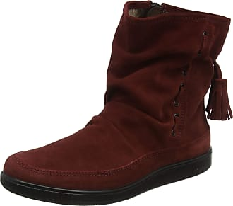 Hotter Womens Pixie Moccasin Boots, Red (Sangria 075), 8 (42 EU)