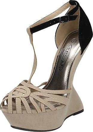 Spot On Ladies High Platform Ghost Heel Sandal - Nude Synthetic - UK Size 5 - EU Size 38 - US Size 7