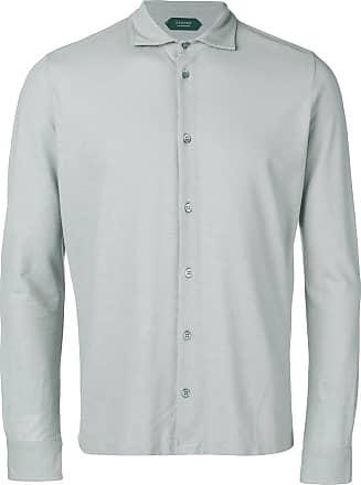 Zanone Camisa com botões - Cinza