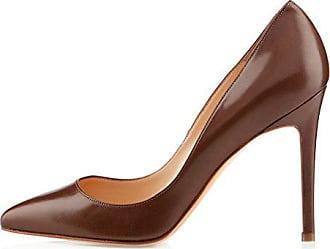 1011c5b038dd EDEFS Damen Komfort Pumps Schuhe Geschlossen Stilettoabsatz Bequeme Pumps  Braun Größe EU39